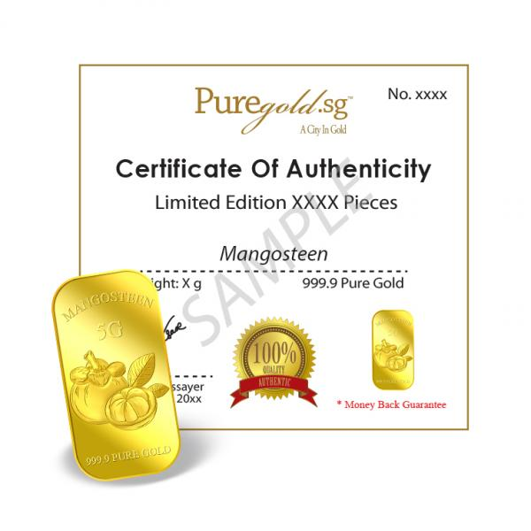 5g Queen of Fruits Mangosteen Gold Bar | Buy Gold Silver in